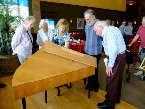 Fred and Friends around Harpsichord-Harbour Pointe Retirement