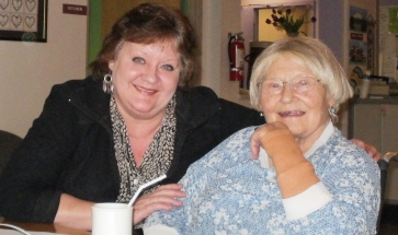 Marie van Ingen and daughter at the Foss Home April 2013